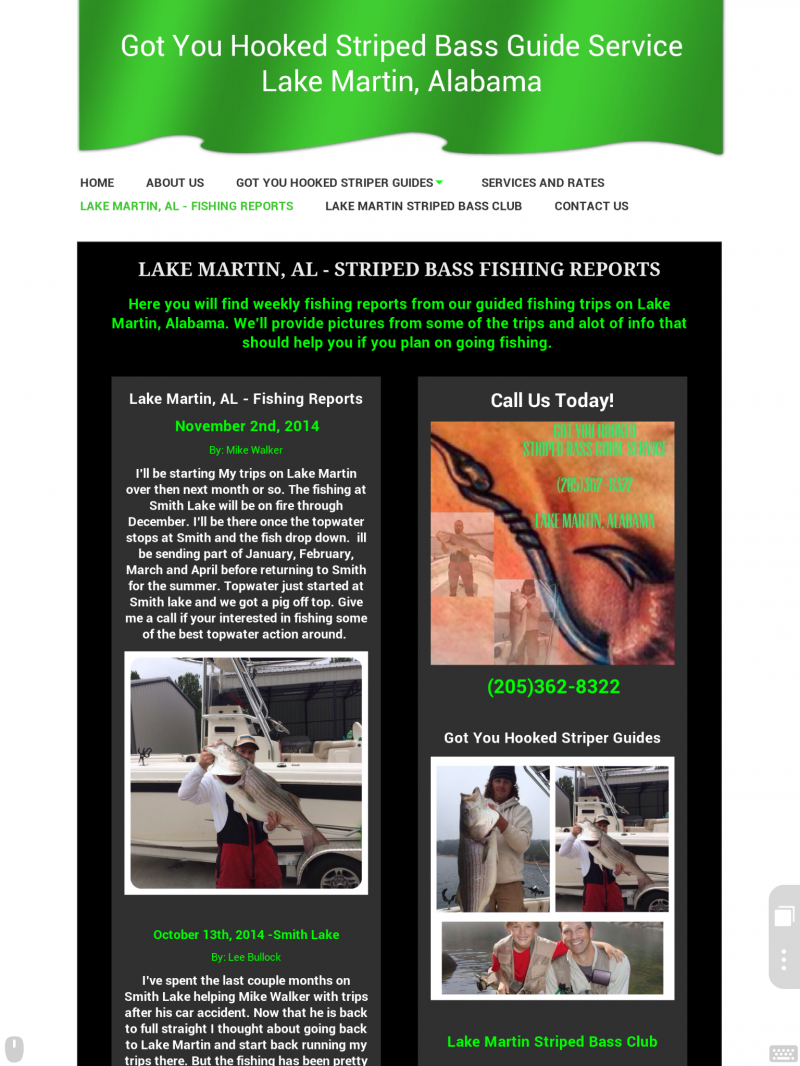 Lake Martin Fishing Reports