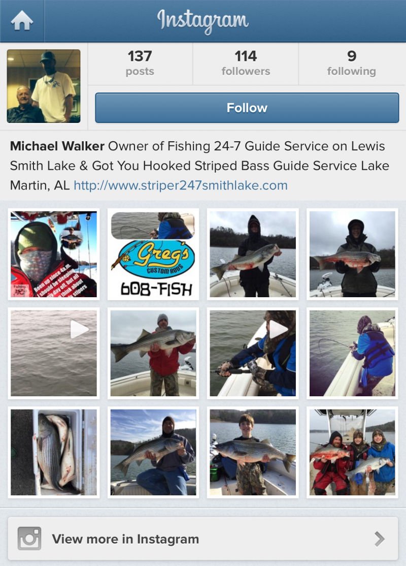 Got You Hooked Instagram Link Stripers247